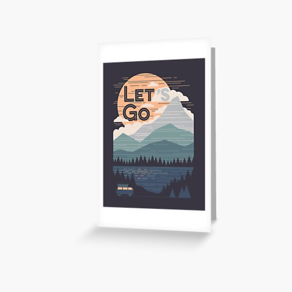 Let's Go Greeting Card