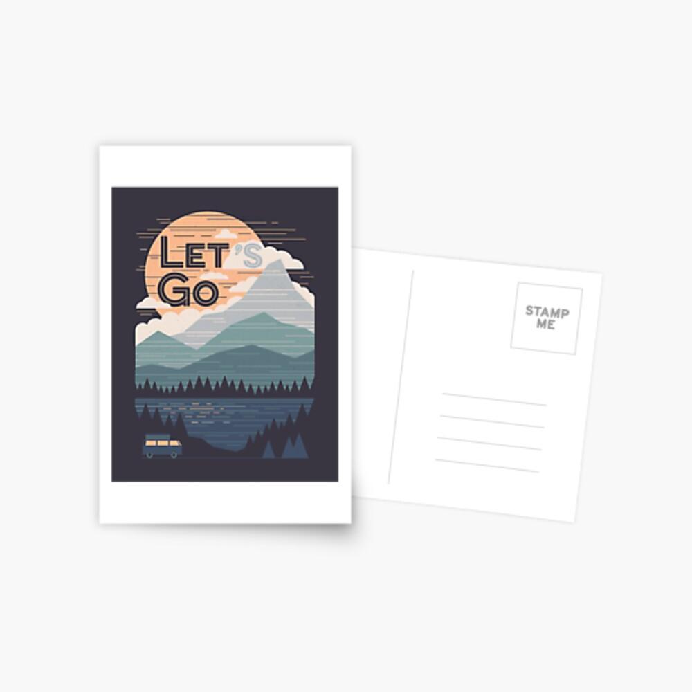 Let's Go Postcard