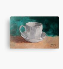 Simply A Cup And Saucer Canvas Print