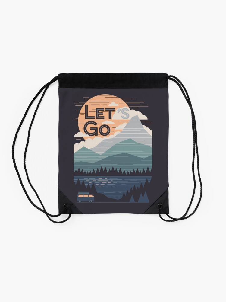 Alternate view of Let's Go Drawstring Bag