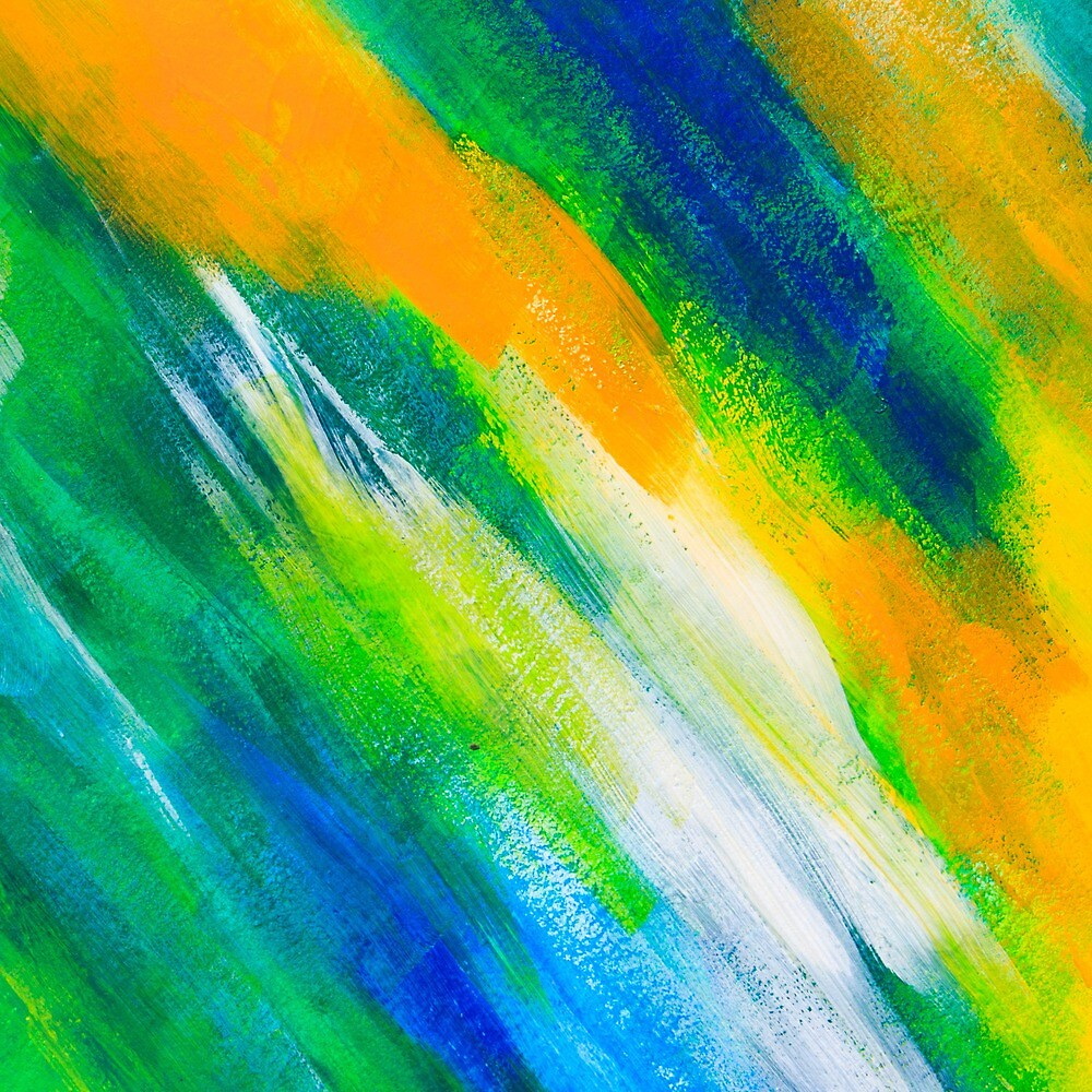 Green Blue And Orange Painted Texture Background By Skylynxdesign