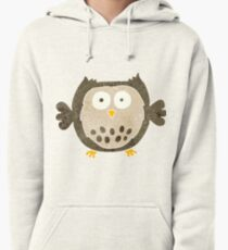 retro cartoon owl Pullover Hoodie