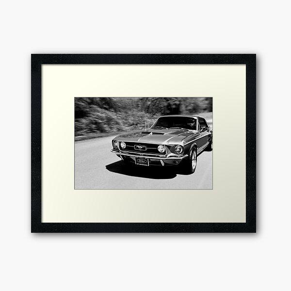 1967 Ford Mustang B/W  Framed Art Print
