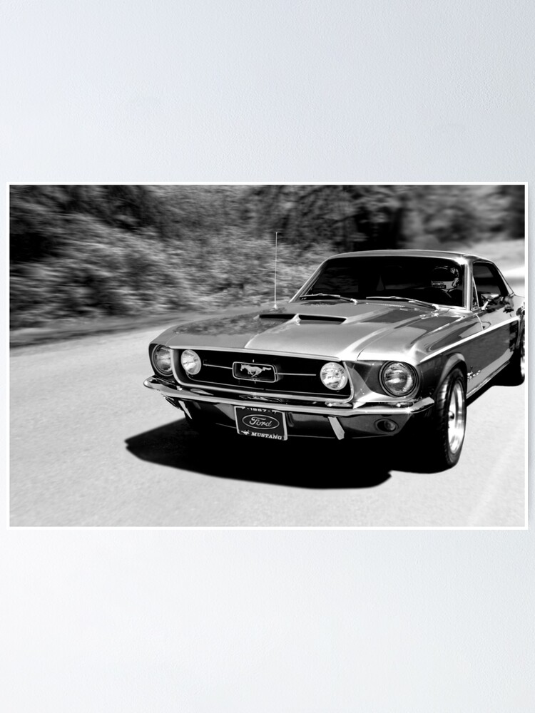 Ford mustang vintage classic car wall art poster large a0