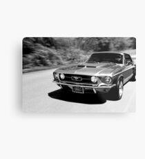 1967 Ford Mustang B/W  Metal Print