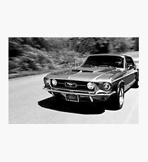 1967 Ford Mustang B/W  Photographic Print