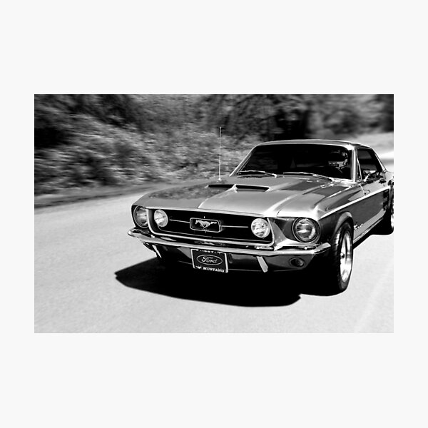 1967 Ford Mustang N / B Impression photo
