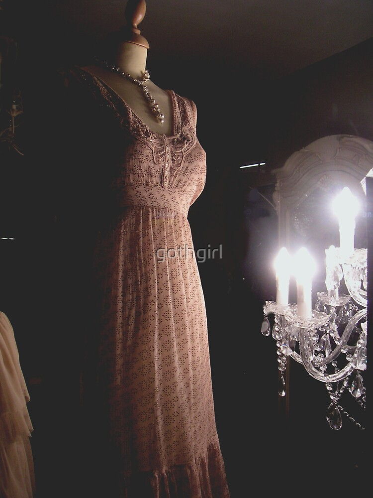 The Dress and chandelier by gothgirl