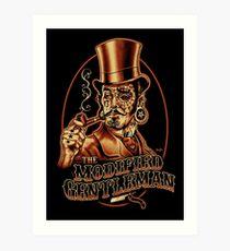 Modified Vintage Victorian Gentleman, Steampunk, Tattoo Art    Art Print