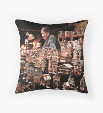 Christmas Shopkeeper Throw Pillow