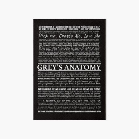 typography black Art Board Print