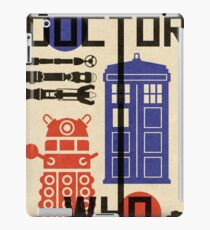 Dr Who Bauhaus Style  iPad Case/Skin