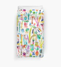 Lush and dreamy cacti garden Duvet Cover