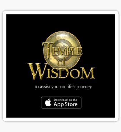 Temple Logo Sticker