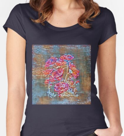 Poppies Fitted Scoop T-Shirt