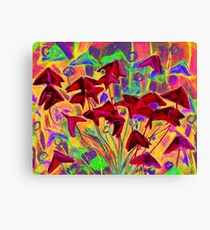 Oxalis / Psychedelic version, modern floral art  Canvas Print