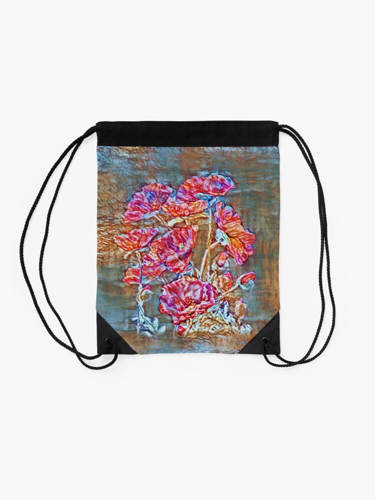 Alternate view of Poppies Drawstring Bag