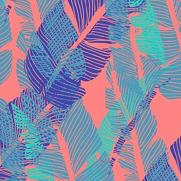Carved Fluo Jungle #redbubble #decor #buyart by designdn