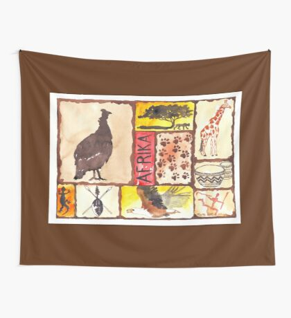 Lodge décor - 'n Afrika Collage en Bosvelddrome | An African Collage Wall Tapestry