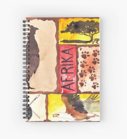 Lodge décor - 'n Afrika Collage en Bosvelddrome | An African Collage Spiral Notebook