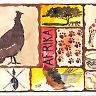 Lodge décor - 'n Afrika Collage en Bosvelddrome | An African Collage by Maree Clarkson