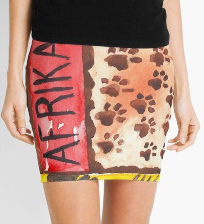 Lodge décor - 'n Afrika Collage en Bosvelddrome | An African Collage Mini Skirt