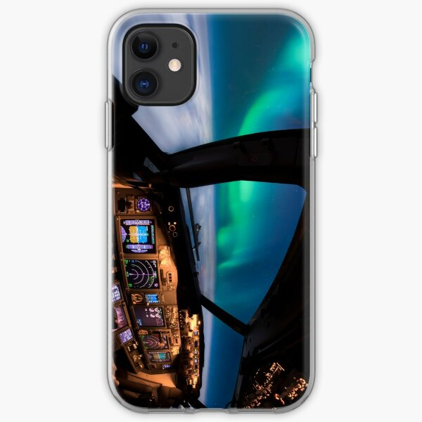 Flying under the Aurora Borealis iPhone Soft Case