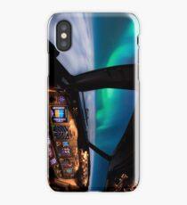 Flying under the Aurora Borealis iPhone Case