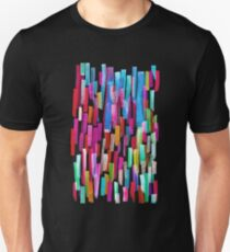 Multicolored watercolor stripes pattern T-Shirt