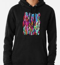 Multicolored watercolor stripes pattern Pullover Hoodie
