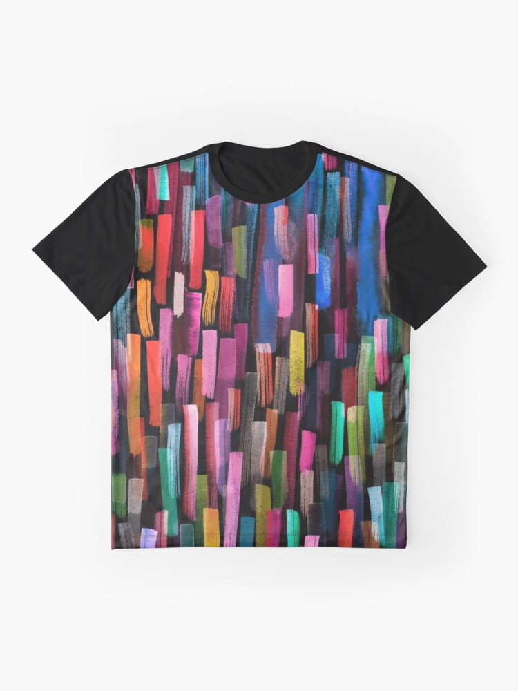 Alternate view of Multicolored watercolor stripes pattern Graphic T-Shirt