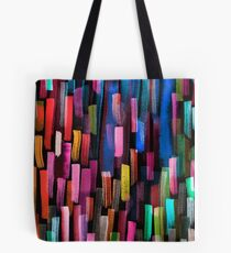 Multicolored watercolor stripes pattern Tote Bag