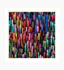 Multicolored watercolor stripes pattern Art Print