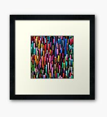 Multicolored watercolor stripes pattern Framed Print