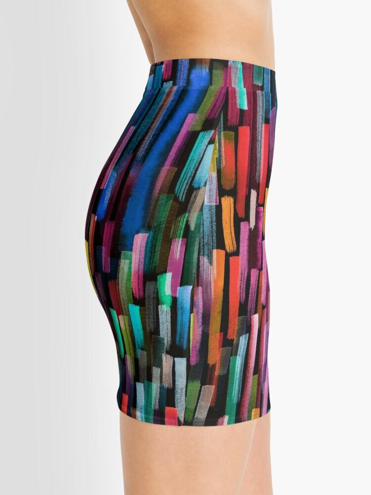Alternate view of Multicolored watercolor stripes pattern Mini Skirt