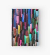 Multicolored watercolor stripes pattern Hardcover Journal