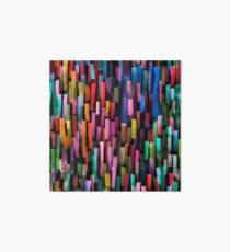 Multicolored watercolor stripes pattern Art Board