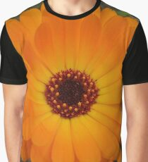 Orange Husbandman's Dial Marigold Flower Graphic T-Shirt