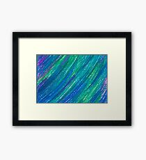 blue and turquoise painted texture Framed Print