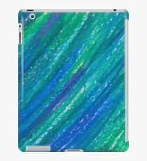 blue and turquoise painted texture iPad Case/Skin