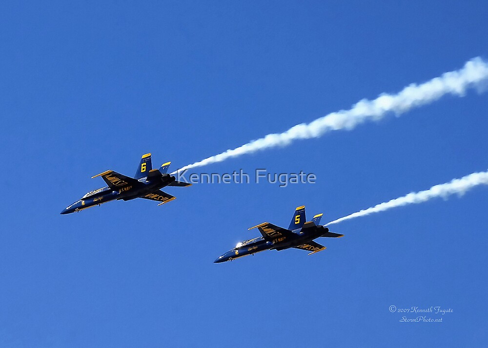 US Navy Blue Angles  by Kenneth Fugate