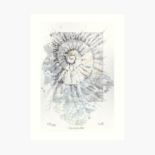 Ammonite no.63 - 100 ammonites project Art Print