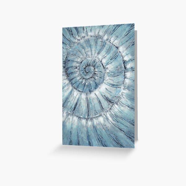 Ammonite no.90 - 100 ammonites project Greeting Card