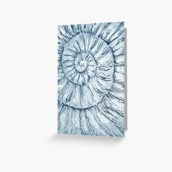 Ammonite no.34 - 100 ammonite project Greeting Card