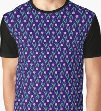 Midnight Tulips Graphic T-Shirt