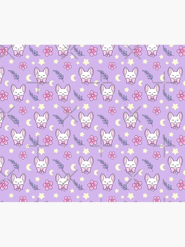 Sakura Cat // Purple | Nikury by nikury