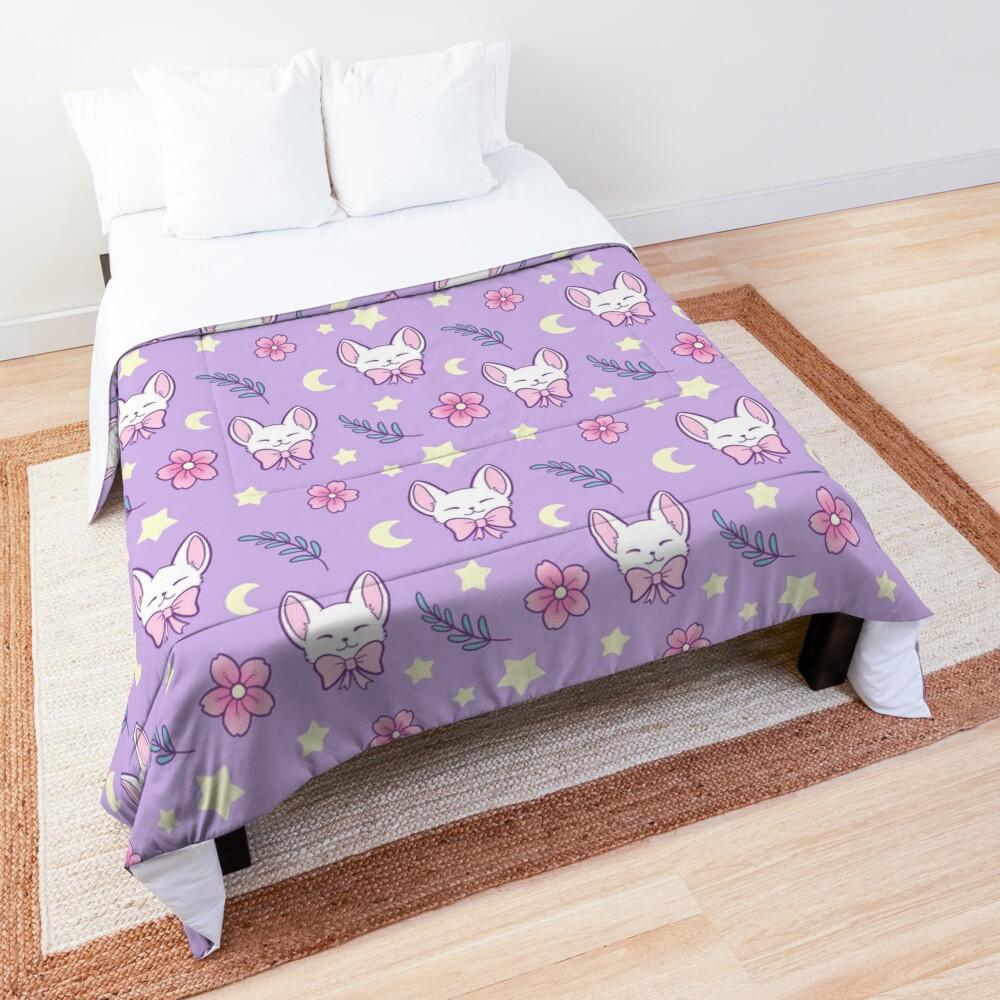 Sakura Cat // Purple | Nikury Comforter
