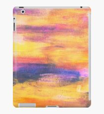 pink, blue and orange painted texture  iPad Case/Skin