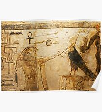 Horus Ancient Egyptian relief Poster