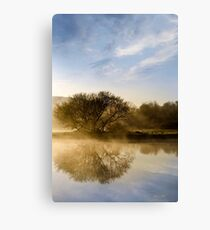 Misty River Sunrise Canvas Print